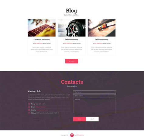 we think single multi page parallax template modern