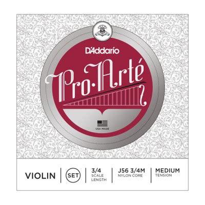 Pro Arte Violin Strings - d addario d addario j56 3 4m pro arte violin string set 3