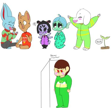 Flowey Square undertale babies 2 by v0nnie on deviantart