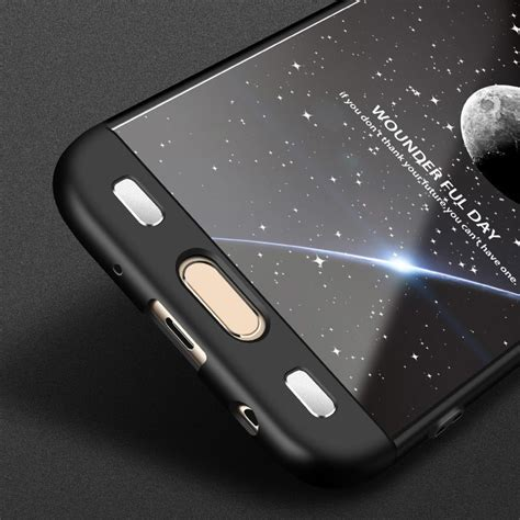 360 Protect Samsung Galaxy J7 Pro J730 Casing 360 protection front and back samsung galaxy j7 2017 j730 black and black