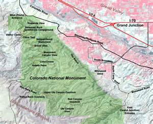 map of monument colorado geology of national parks