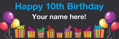 birthday banner for tenth birthday celebration