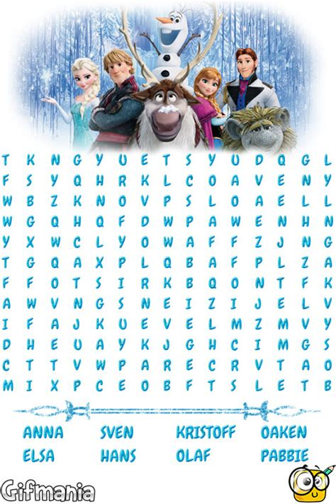 printable frozen word search frozen wordsearch activity page