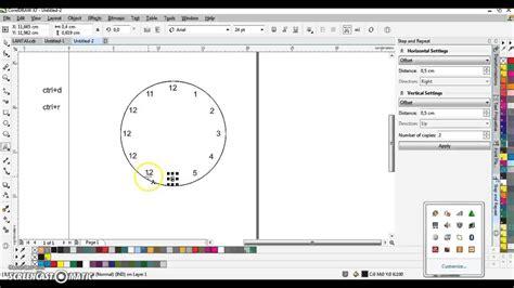desain jam dinding dengan coreldraw membuat jam dinding dengan corel tanpa grid youtube