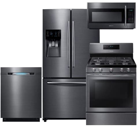 samsung 550598 black stainless steel kitchen package lg limitless design stainless steel