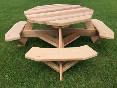 octagon picnic table for sale 49 quot cedar octagon picnic tables for backyards