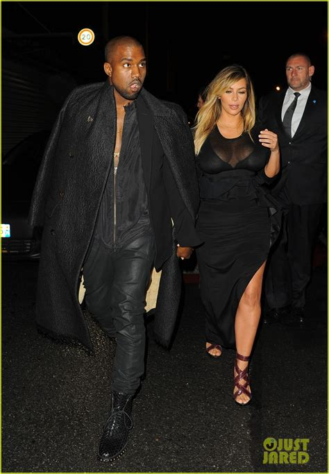 Kanye And Rock The Givenchy Show by Kanye West Givenchy Fashion Show Photo