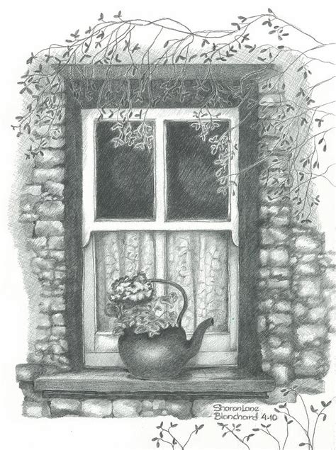 Draw House Plans Online Free ireland cottage window drawing by sharon blanchard