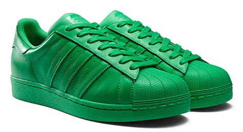 Adidas Superstar Putih Hijau adidas superstar supercolor shoes green