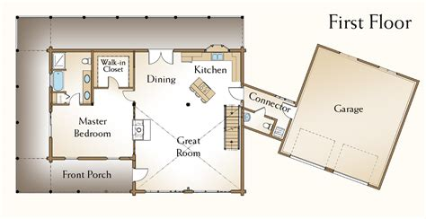 open floor house plans with loft kentucky log home 171 real log style
