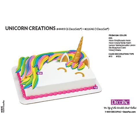 DecoPac   Unicorn Creations DecoSet® 1/4 Sheet Cake Decorating Instructions