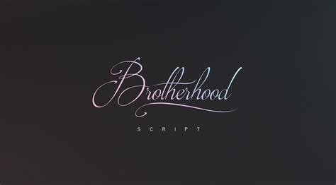brotherhood in brotherhood script font 183 1001 fonts