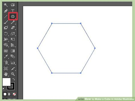 draw hexagon illustrator how to make a cube in adobe illustrator with pictures
