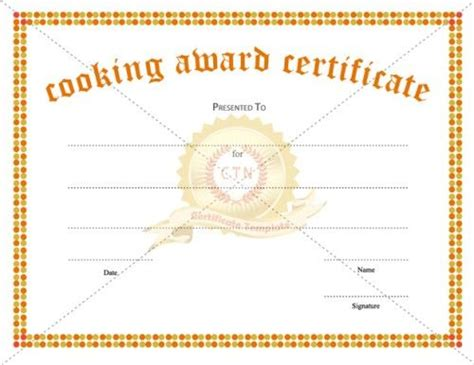 chef certificate template 1000 images about award certificate template on