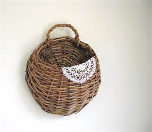 Send Flowers Without Vase Woven Wall Basket Willow Wall Pocket Wall Hanging Rustic Cabin
