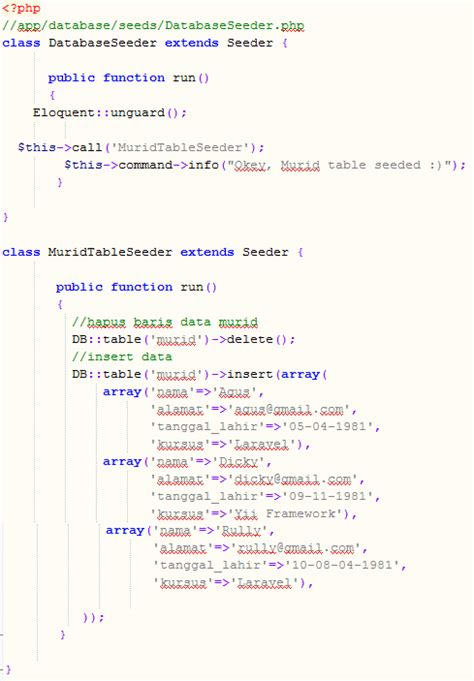 membuat zoom image dengan javascript membuat database seed laravel