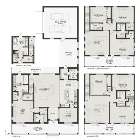 3234 0411 square feet 4 bedroom 2 story house plan 100 2 car garage square footage featured home u2013