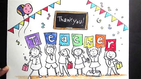 Drawing For Teachers Day creative drawing happy s day for