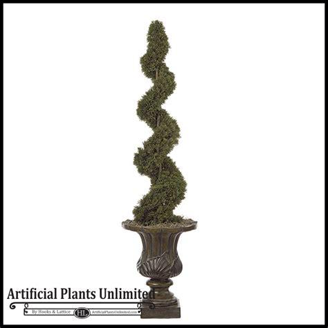 indoor topiaries 4 artificial cedar spiral topiary indoor