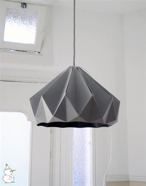 Folded Paper L Shade - chestnut paper origami lshade grey by studio