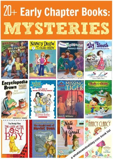 mystery picture book books friends and families early chapter books for