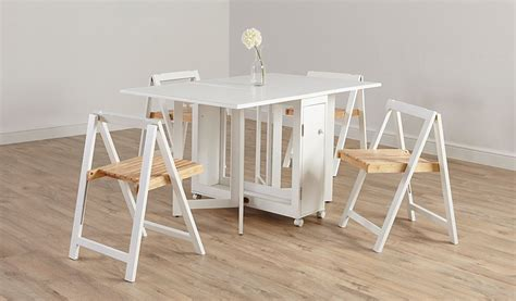 george home folding compact dining table and 4 chairs