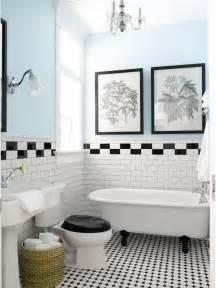 Vintage Black And White Bathroom Ideas vintage black and white tile bath tile bathroom bath