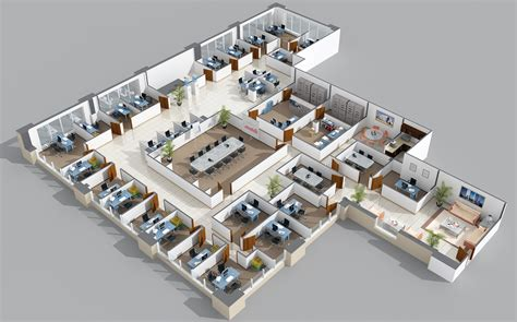 3d office floor plan office layout no doors veritas 99 jean pinterest