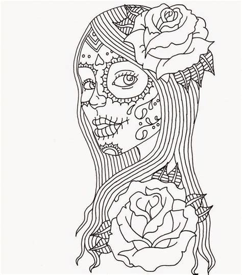 Coloring Pages For Day Of The Dead | free printable day of the dead coloring pages best