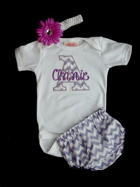 chevron personalized baby girl clothes newborn girl