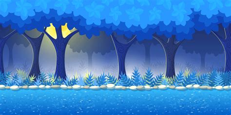 gif format vector night forest game background by lianella graphicriver