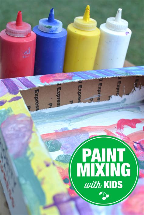 paint mixing videos how to mix paints with kids a step by step tutorial