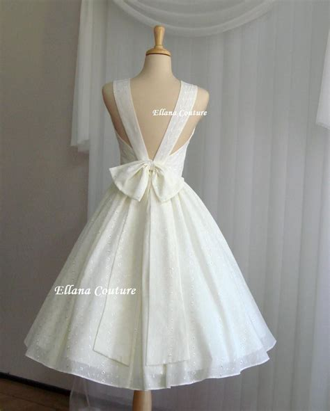 Cotton Wedding Dresses by Maggie Buttercream Eyelet Cotton Wedding Dress Also