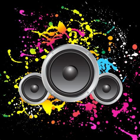 speaker background speakers on colourful grunge background vector free