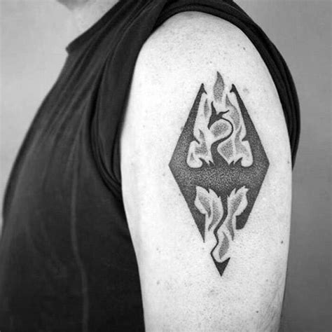 small upper arm tattoos for men 50 skyrim designs for ink ideas