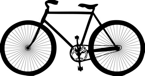 Motorrad Silhouette by Bicycle With Basket Silhouettebdpd9