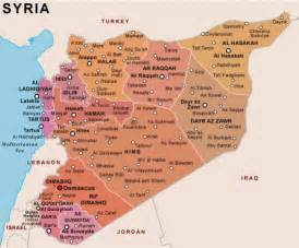 Syria On Map by What Do I Know What Countries Border Syria