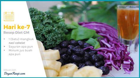 detikhealth diet 7 hari resep diet gm terlengkap cara menurunkan berat badan
