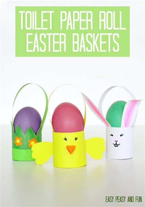 Easter Craft Toilet Paper Roll - toilet paper roll easter craft baskets easy peasy and
