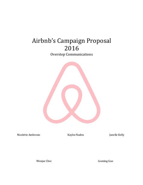 airbnb company profile airbnb caign proposal