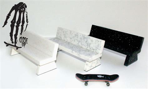fingerboard bench 187 close up marble bench grey 25 00 32 60 usd