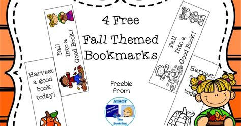 printable bookmarks fall classroom freebies free fall themed bookmarks