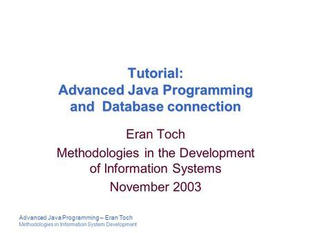 tutorial java database connectivity jdbc tutorial mie456 information systems infrastructure