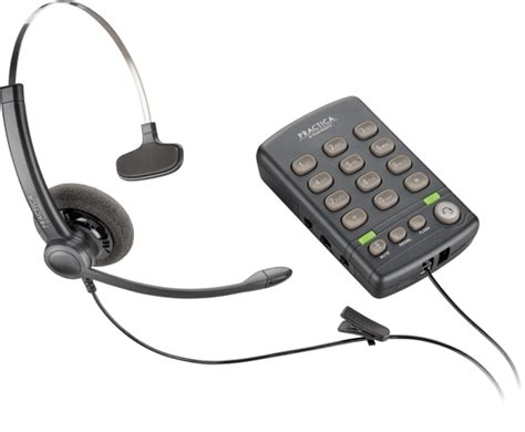 Headset Untuk Call Center telepon headset plantronics practica t110 call center