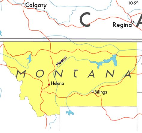 montana in usa map maps of montana usa