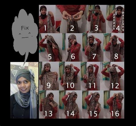tutorial turban segi tiga cara memakai jilbab pashmina kipas