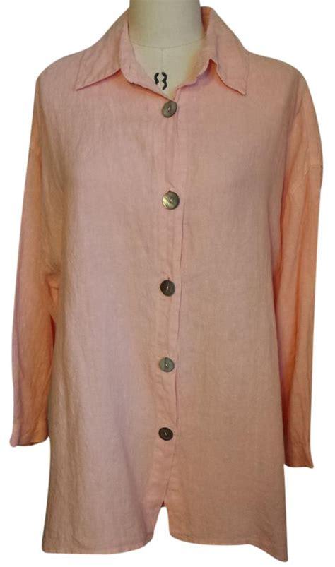 color me cotton color me cotton click pink linen top 33 retail