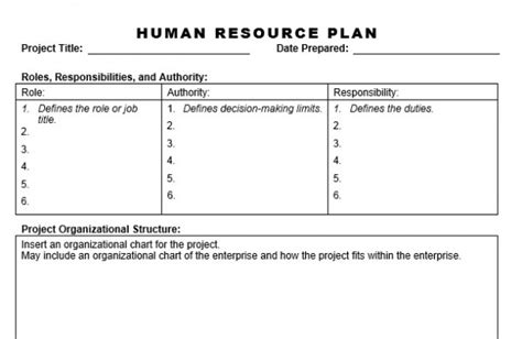 human resources plan template human resource plan planning engineer est