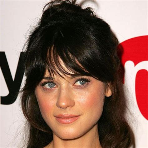 how to cut bangs like zoe bangs how to style and long bangs on pinterest