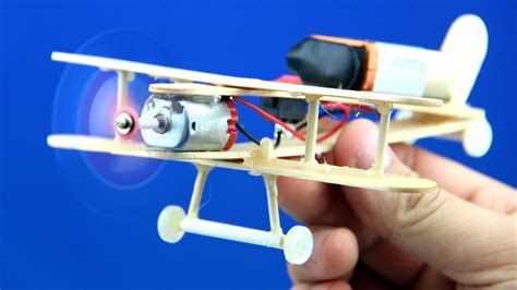 how to make a fan with dc motor how to make a dc motor plane toy wooden plane diy youtube